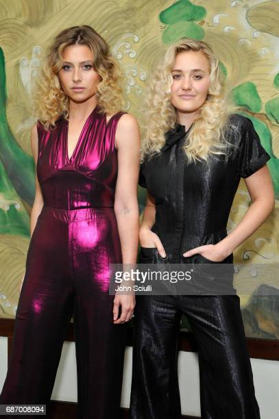 Actors Aly Michalka and AJ Michalka at the Wolk Morais Collection 5 Fashion Show at Yamashiro on May 22 2017 in Los Angeles California