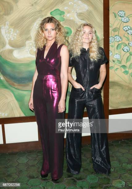 Actors Aly Michalka and AJ Michalka attend the Wolk Morais Collection 5 Fashion Show at Yamashiro Hollywood on May 22 2017 in Los Angeles California