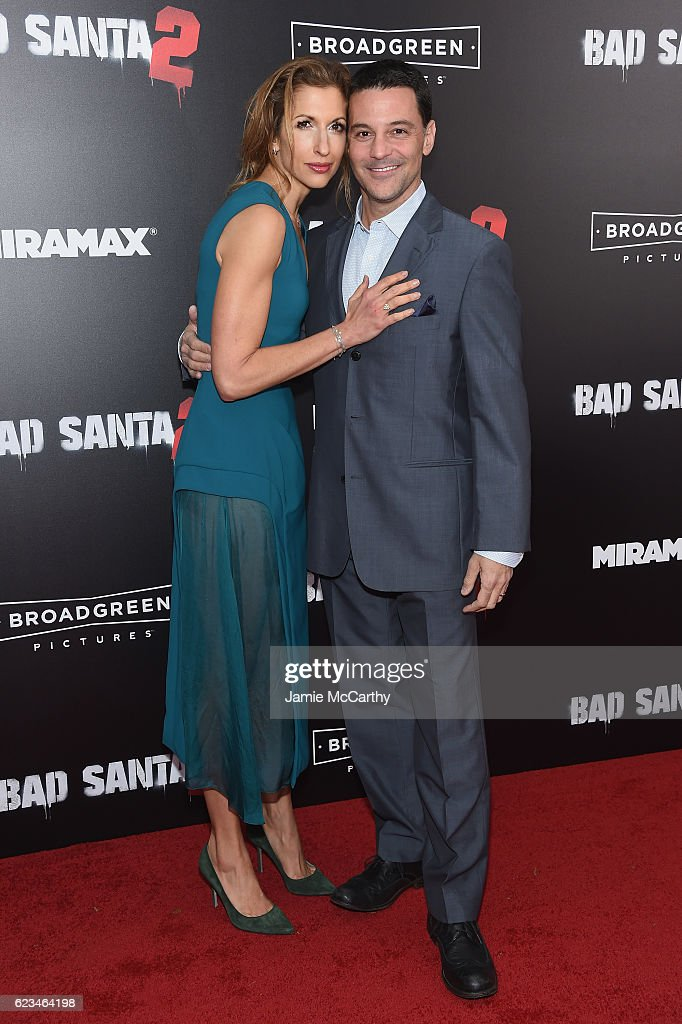 Actors Alysia Reiner and David Alan Basche attend the 'Bad Santa 2' New York Premiere at AMC Loews Lincoln Square 13 theater on November 15, 2016 in New York City.