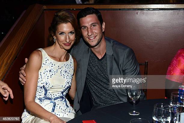 Actors Alysia Reiner and Pablo Schreiber attend the 2014 Young Hollywood Awards brought to you by Mr Pink held at The Wiltern on July 27 2014 in Los...