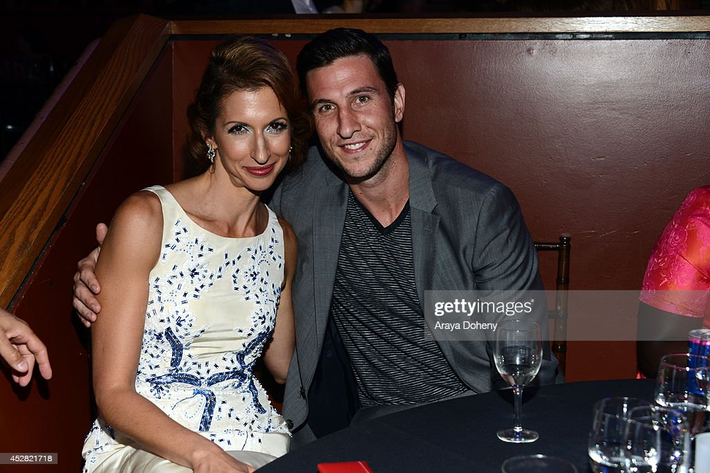 Actors Alysia Reiner and <a gi-track='captionPersonalityLinkClicked' href=/galleries/search?phrase=Pablo+Schreiber&family=editorial&specificpeople=683536 ng-click='$event.stopPropagation()'>Pablo Schreiber</a> (R) attend the 2014 Young Hollywood Awards brought to you by Mr. Pink held at The Wiltern on July 27, 2014 in Los Angeles, California.