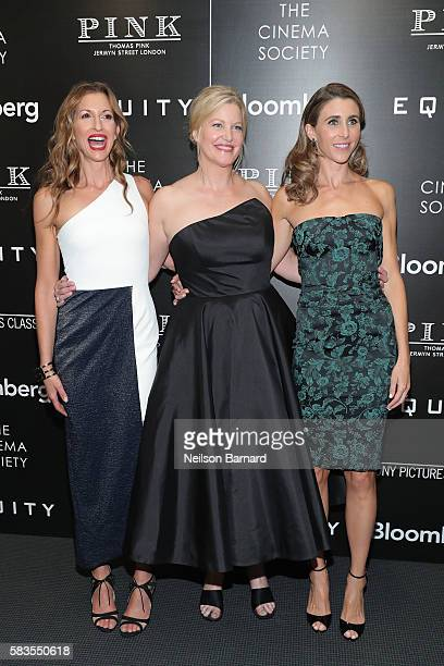 Actors Alysia Reiner Anna Gunn and Sarah Megan Thomas attend a screening of Sony Pictures Classics' 'Equity' hosted by The Cinema Society with...