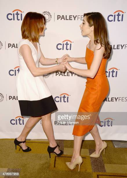 Actors Alyson Hannigan and Cristin Milioti arrive at The Paley Center For Media's PaleyFest 2014 Honoring 'How I Met Your Mother' Series Farewell at...