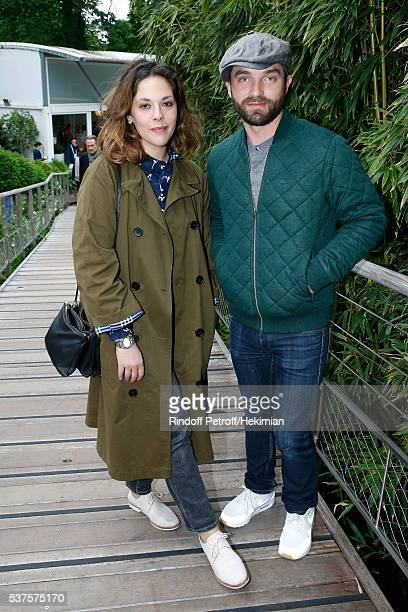 Actors Alysson Paradis and her companion Guillaume Gouix attend Day Twelve of the 2016 French Tennis Open at Roland Garros on June 2 2016 in Paris...