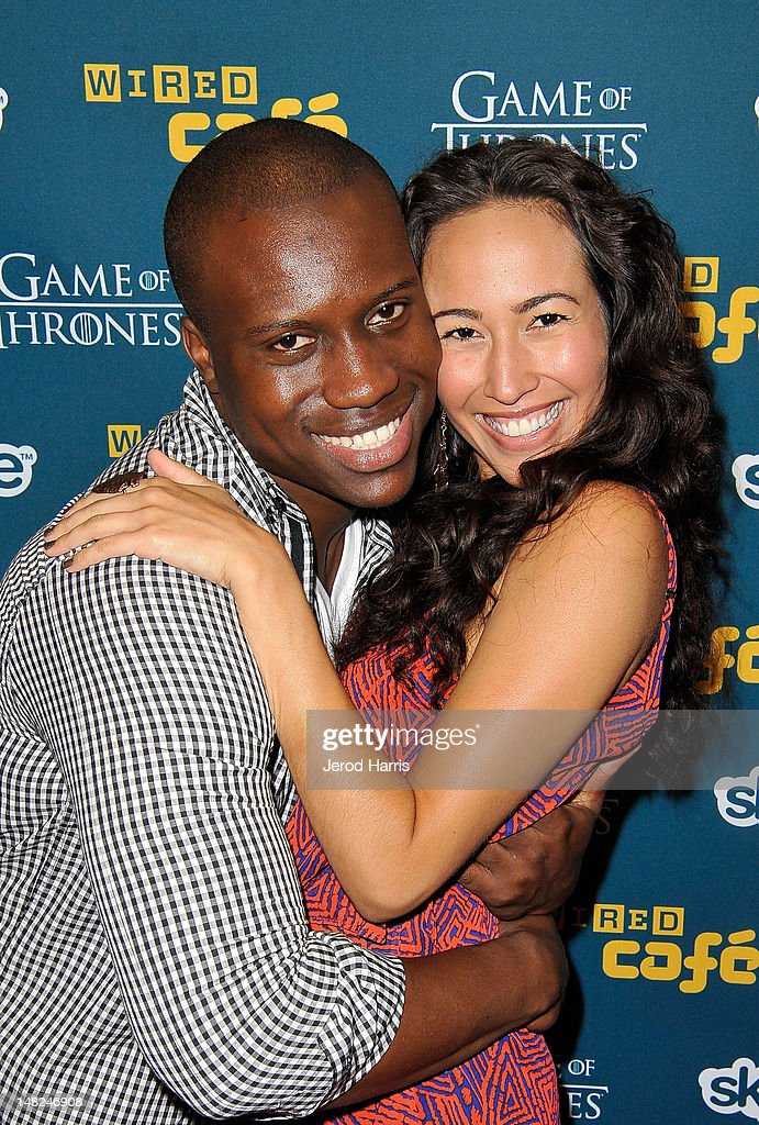 Actors Amadou Ly and Marisa Quinn attend WIRED Cafe at Comic-Con held at Palm Terrace at the Omni Hotel on July 12, 2012 in San Diego, California.