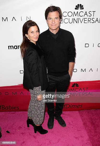 Actors Amanda Anka and Jason Bateman attend the 2015 March Of Dimes Celebration Of Babies at the Beverly Wilshire Four Seasons Hotel on December 4...