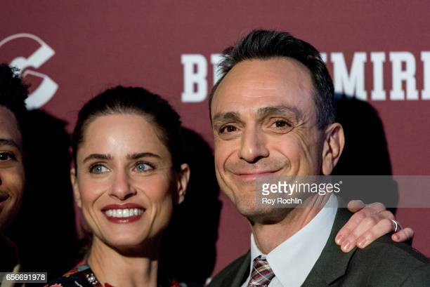 Actors Amanda Peet and Hank Azaria attend the 'Brockmire' red carpet event at 40 / 40 Club on March 22 2017 in New York City