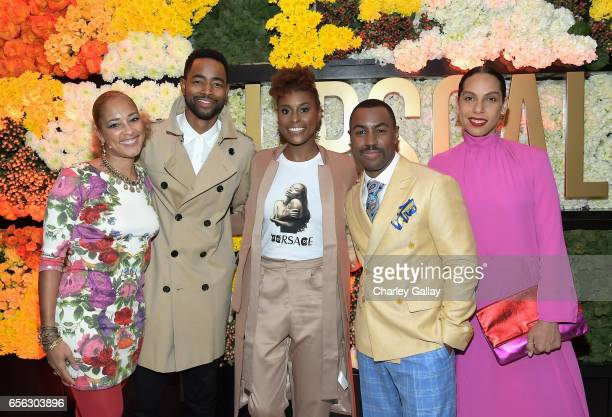 Actors Amanda Seales Jay Ellis Issa Rae Creator/Host Prentice Penny and director Melina Matsoukas at truTV's 'Upscale with Prentice Penny' Premiere...