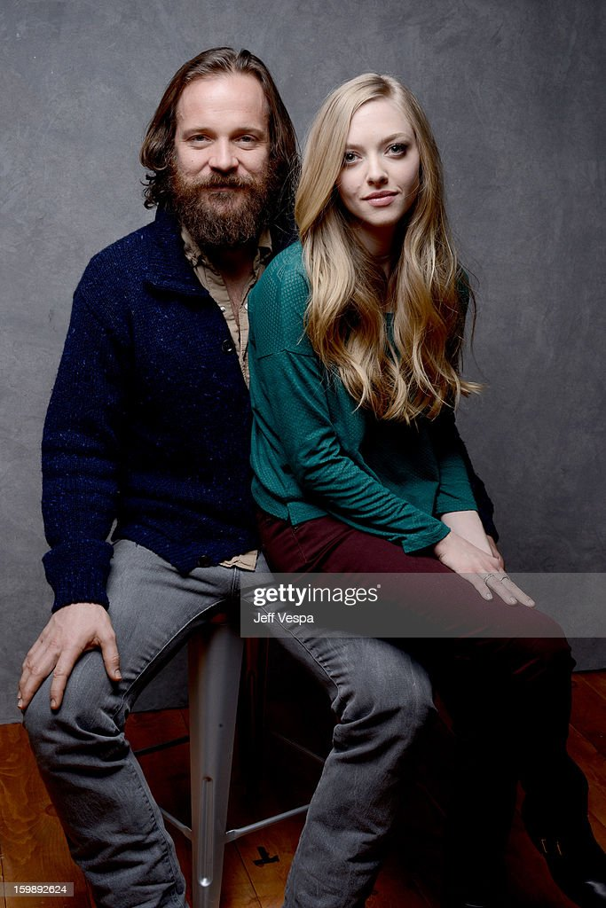 Actors <a gi-track='captionPersonalityLinkClicked' href=/galleries/search?phrase=Amanda+Seyfried&family=editorial&specificpeople=216619 ng-click='$event.stopPropagation()'>Amanda Seyfried</a> (L) and <a gi-track='captionPersonalityLinkClicked' href=/galleries/search?phrase=Peter+Sarsgaard&family=editorial&specificpeople=210547 ng-click='$event.stopPropagation()'>Peter Sarsgaard</a> pose for a portrait during the 2013 Sundance Film Festival at the WireImage Portrait Studio at Village At The Lift on January 22, 2013 in Park City, Utah.