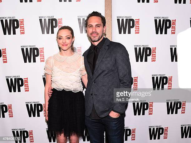Actors Amanda Seyfried and Thomas Sadoski attend the 30th Annual Women Of Achievement Awards at The Edison Ballroom on June 8 2015 in New York City