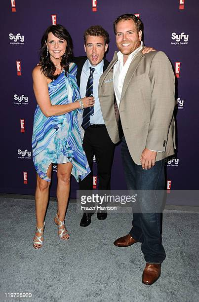 Actors Amanda Tapping Robin Dunne and Josh Gates arrive at SyFy/E ComicCon Party at Hotel Solamar on July 23 2011 in San Diego California