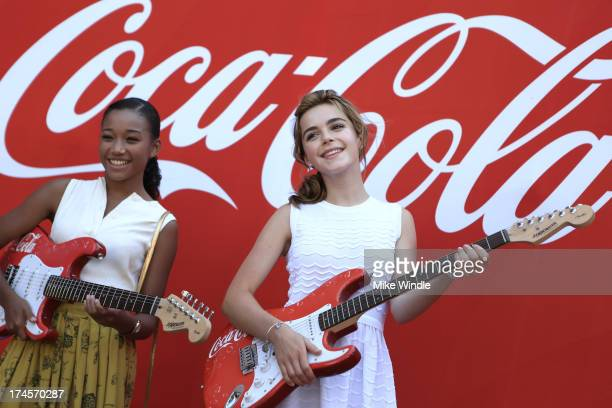 Actors Amandla Stenberg and Kiernan Shipka attend Variety's Power of Youth presented by Hasbro Inc and generationOn at Universal Studios Backlot on...