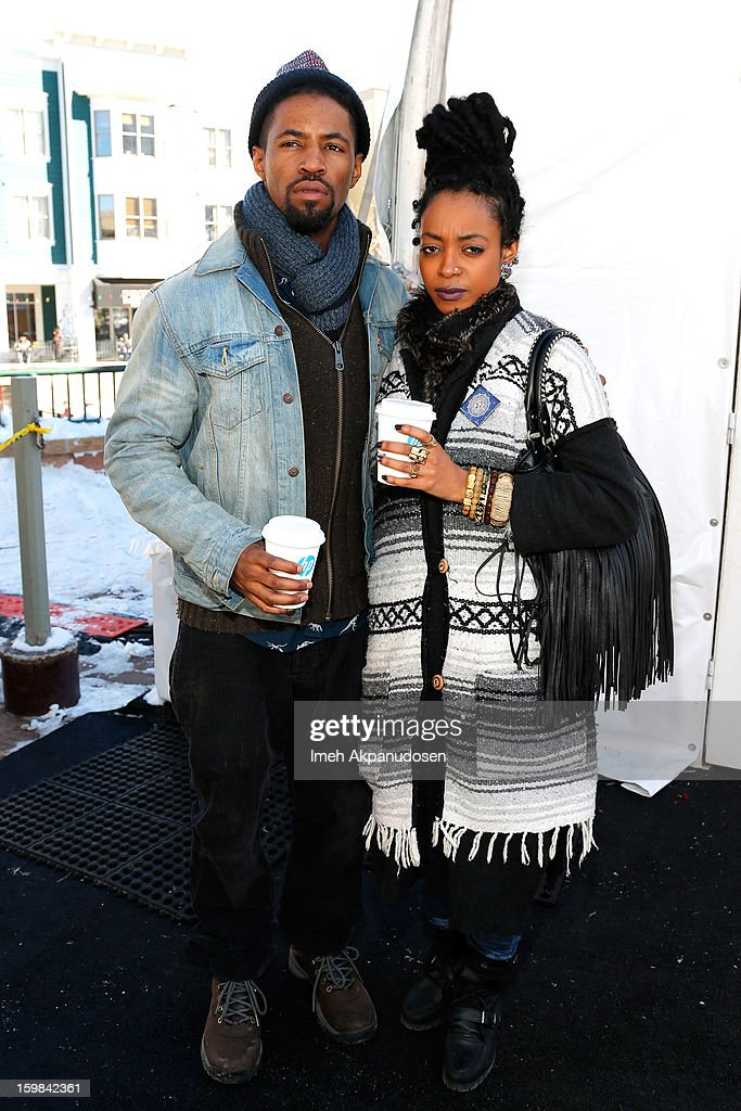 Actors Amari Cheatom (L) and Trae Harris attend Day 4 of Village At The Lift 2013 on January 21, 2013 in Park City, Utah.