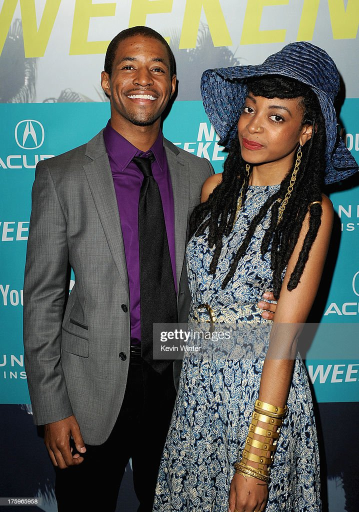Actors Amari Cheatom and Trae Harris attend 'Newlyweeds' premiere during NEXT WEEKEND, presented by Sundance Institute at Sundance Sunset Cinema on August 10, 2013 in Los Angeles, California.
