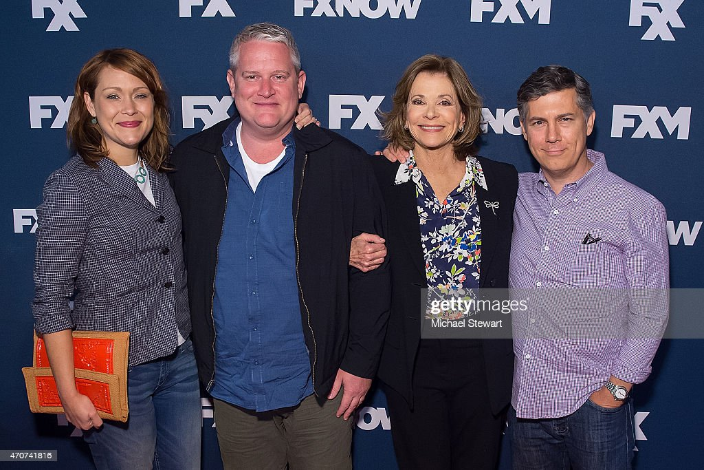Actors Amber Nash, Adam Reed, Jessica Walter and Chris Parnell attends the 2015 FX Bowling Party at Lucky Strike on April 22, 2015 in New York City.