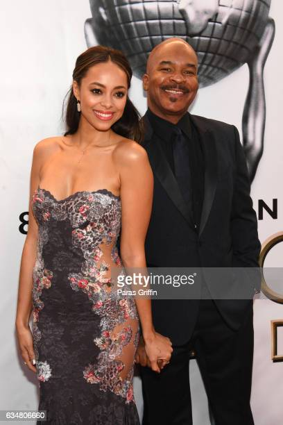 Actors Amber Stevens West and David Alan Grier attend the 48th NAACP Image Awards at Pasadena Civic Auditorium on February 11 2017 in Pasadena...