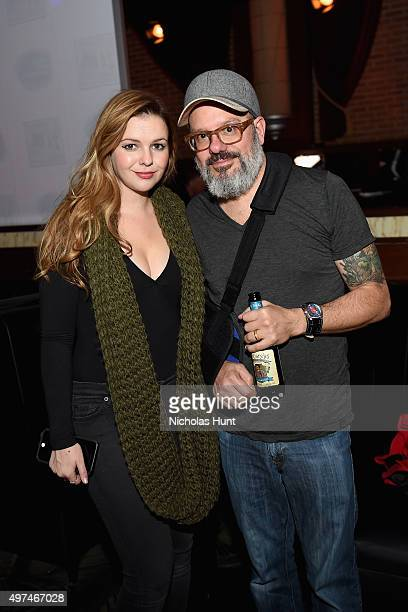 Actors Amber Tamblyn and David Cross attend Urban Arts Partnership at the 15th annual The 24 Hour Plays On Broadway after party at BB King on...