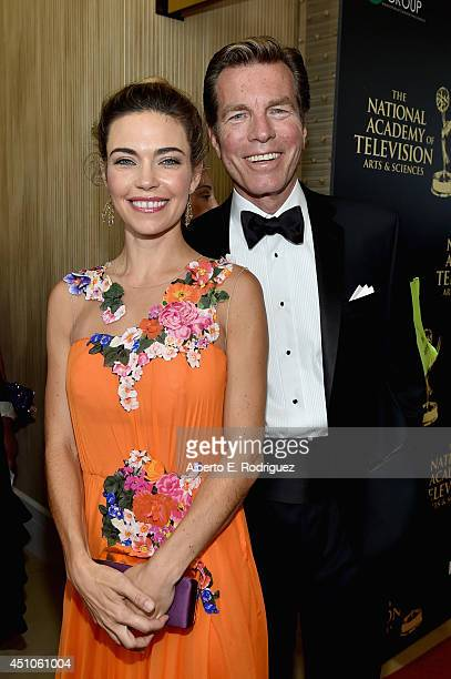 Actors Amelia Heinle and Peter Bergman attend The 41st Annual Daytime Emmy Awards at The Beverly Hilton Hotel on June 22 2014 in Beverly Hills...