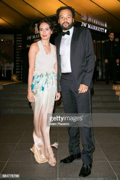 Actors Amelle Chahbi and Fabrice Eboue arrive at the JW Marriott hotel during the 70th annual Cannes Film Festival on May 18 2017 in Cannes France
