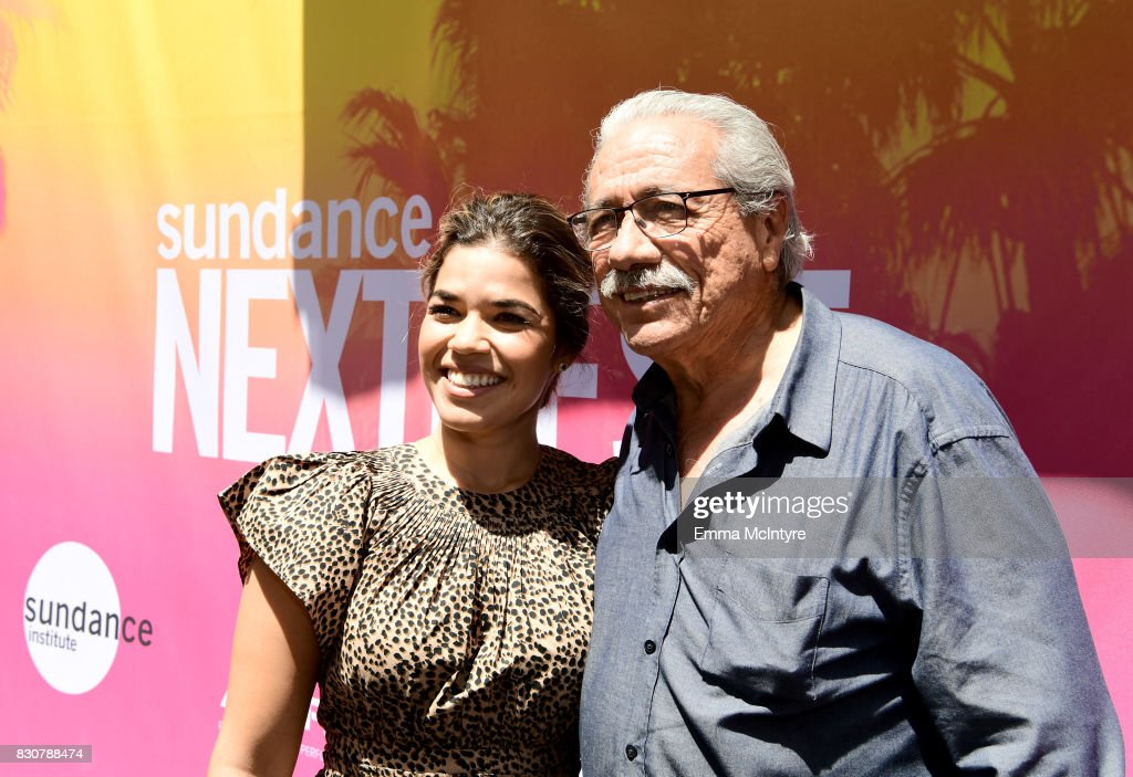 Actors America Ferrera (L) and Edward James Olmos attend 2017 Sundance NEXT FEST at The Theater at The Ace Hotel on August 12, 2017 in Los Angeles, California.