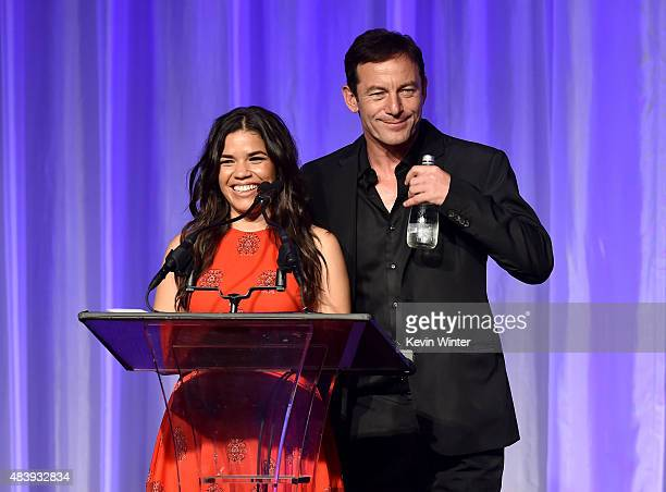 Actors America Ferrera and Jason Isaacs accept grant on behalf of Latin Cinema of LA Streetlights California State Summer School for the Arts and The...