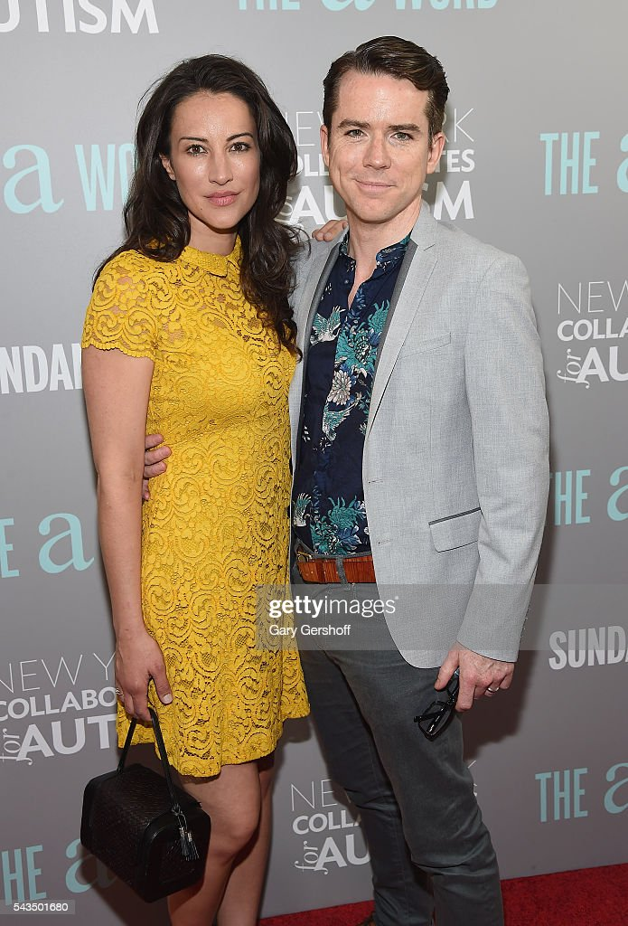 Actors America Olivo (L) and Christian Campbell attend 'The A Word' New York screening at Museum Of Arts And Design on June 28, 2016 in New York City.