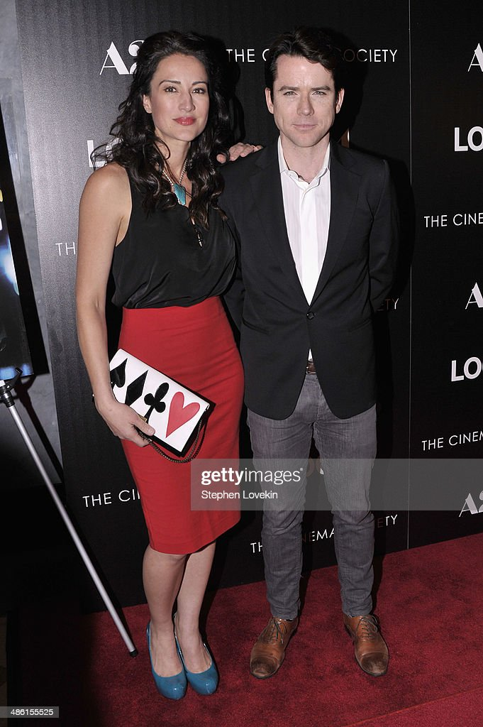 Actors America Olivo (L) and Christian Campbell attend the A24 and The Cinema Society premiere of 'Locke' at The Paley Center for Media on April 22, 2014 in New York City.
