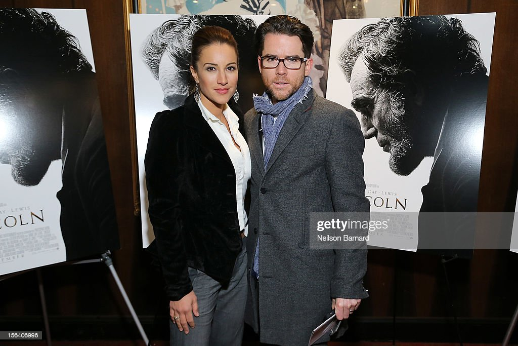 Actors America Olivo and Christian Campbell attends the special screening of Steven Spielberg's Lincoln at the Ziegfeld Theatre on November 14, 2012 in New York City.