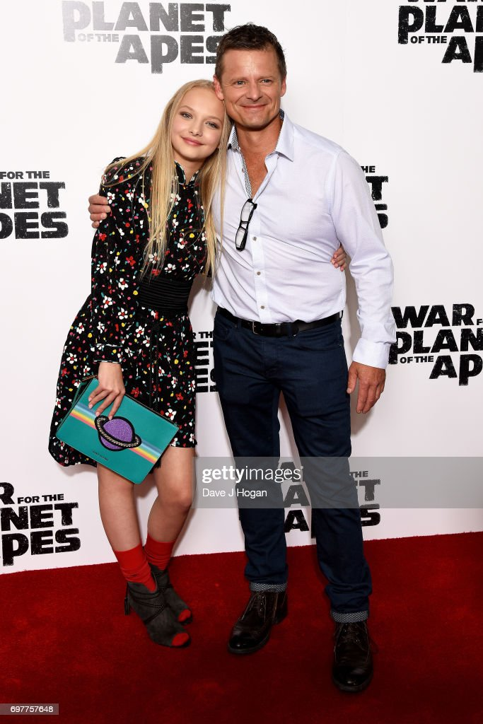 Actors (L) Amiah Miller and Steve Zahn attend a screening of 'War For The Planet Of The Apes' at The Ham Yard Hotel on June 19, 2017 in London, England.