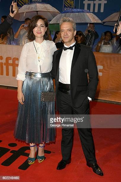 Actors Amira Casar and Emmanuel Salinger attend the 'Planetarium' premiere during the 2016 Toronto International Film Festival at Roy Thomson Hall on...