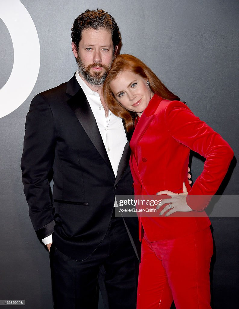 Actors Amy Adams and Darren Le Gallo arrive at the Tom Ford Autumn/Winter 2015 Womenswear Collection Presentation at Milk Studios on February 20 2015...