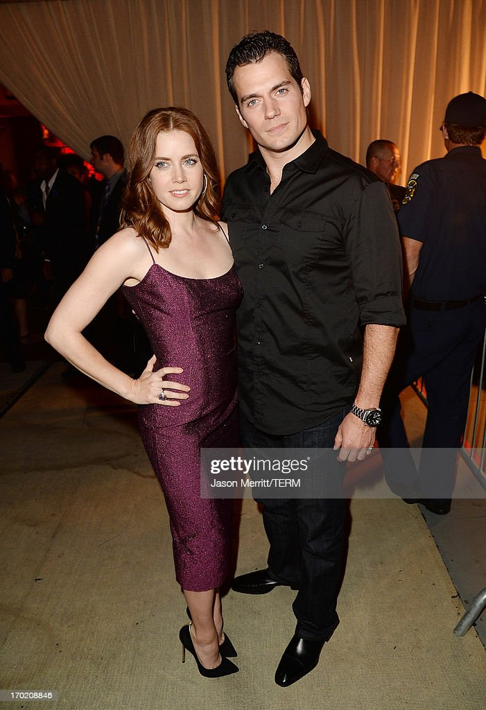 Actors <a gi-track='captionPersonalityLinkClicked' href=/galleries/search?phrase=Amy+Adams&family=editorial&specificpeople=213938 ng-click='$event.stopPropagation()'>Amy Adams</a> (L) and <a gi-track='captionPersonalityLinkClicked' href=/galleries/search?phrase=Henry+Cavill&family=editorial&specificpeople=3767741 ng-click='$event.stopPropagation()'>Henry Cavill</a> attend Spike TV's Guys Choice 2013 at Sony Pictures Studios on June 8, 2013 in Culver City, California.