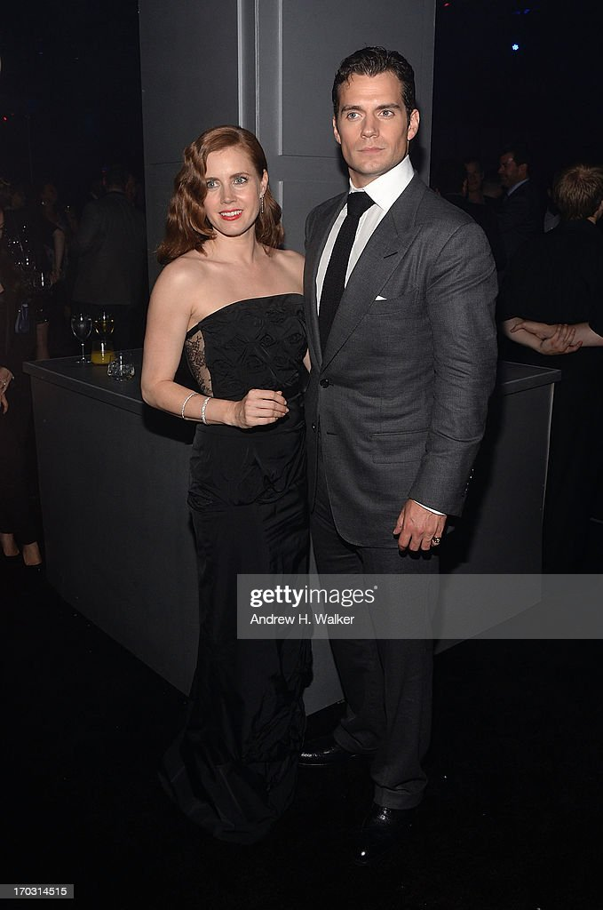 Actors Amy Adams and Henry Cavill attend the 'Man Of Steel' world premiere after party at Skylight at Moynihan Station on June 10, 2013 in New York City.