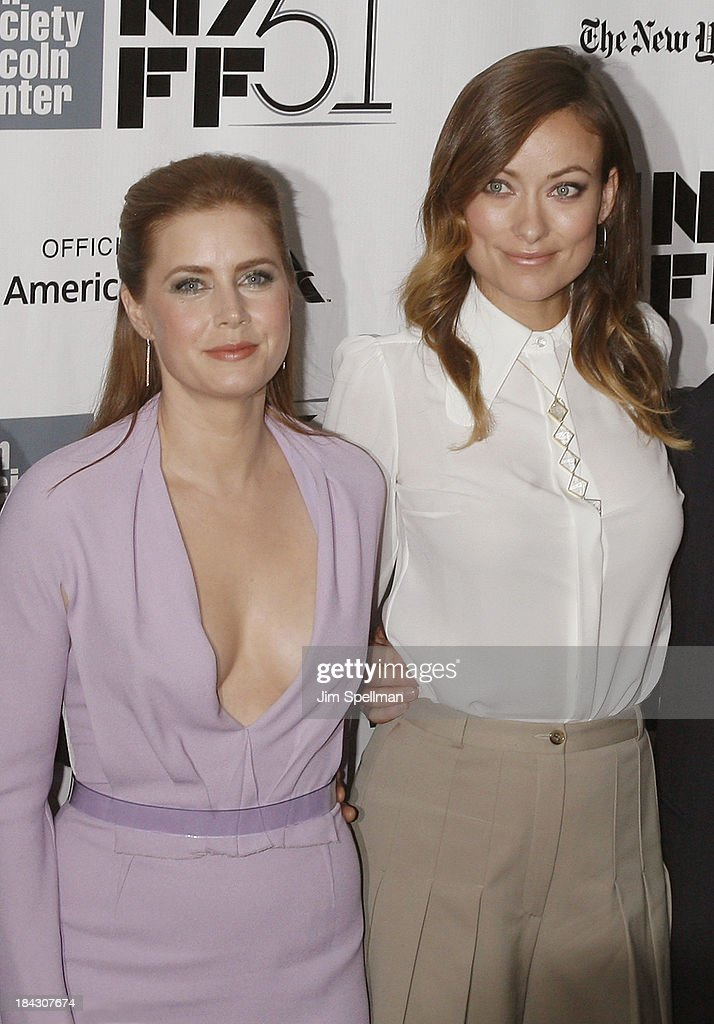 Actors <a gi-track='captionPersonalityLinkClicked' href=/galleries/search?phrase=Amy+Adams&family=editorial&specificpeople=213938 ng-click='$event.stopPropagation()'>Amy Adams</a> and <a gi-track='captionPersonalityLinkClicked' href=/galleries/search?phrase=Olivia+Wilde&family=editorial&specificpeople=235399 ng-click='$event.stopPropagation()'>Olivia Wilde</a> attend the Closing Night Gala Presentation Of 'Her' during the 51st New York Film Festival at Alice Tully Hall at Lincoln Center on October 12, 2013 in New York City.
