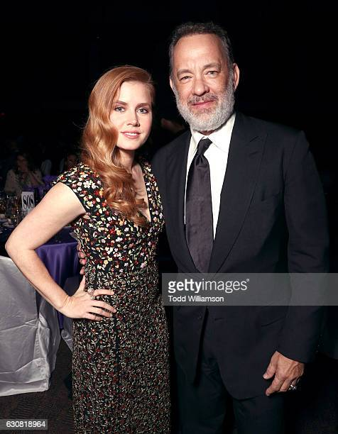 Actors Amy Adams and Tom Hanks attend the 28th Annual Palm Springs International Film Festival Film Awards Gala at the Palm Springs Convention Center...
