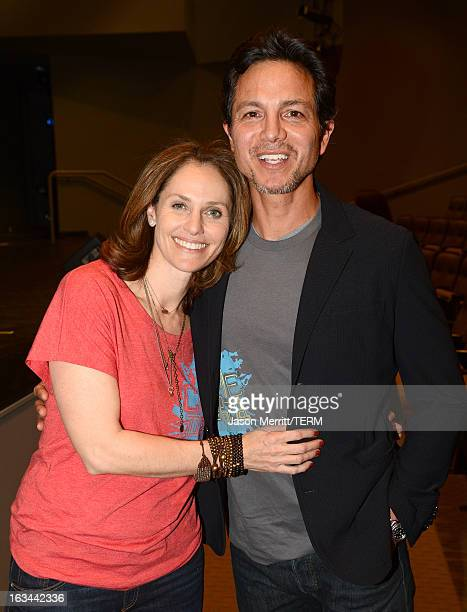 Actors Amy Brenneman and Benjamin Bratt attend the Chime Institute's second annual CHIMEAPALOOZA on March 9 2013 in Northridge California
