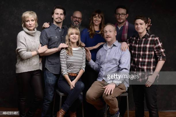Actors Amy Carlson Jason Ritter and Meredith Hagner filmmaker David Cross and actors Erinn Hayes Matt Walsh James Adomian and Jake Cherry pose for a...