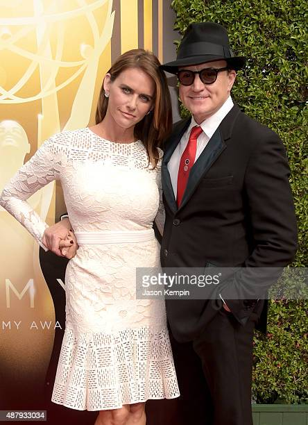 Actors Amy Landecker and Bradley Whitford attend the 2015 Creative Arts Emmy Awards at Microsoft Theater on September 12 2015 in Los Angeles...