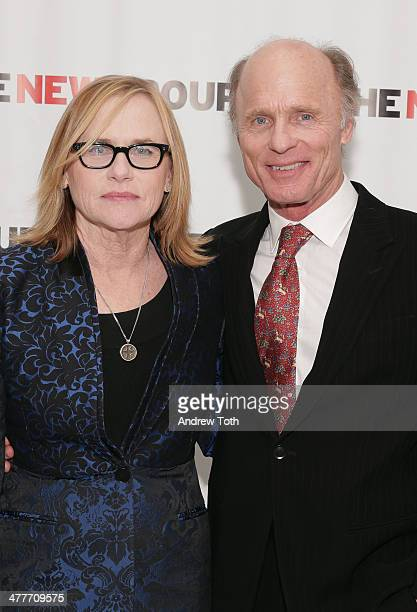 Actors Amy Madigan and Ed Harris attend the 2014 Bright Lights OffBroadway Gala at Tribeca Rooftop on March 10 2014 in New York City