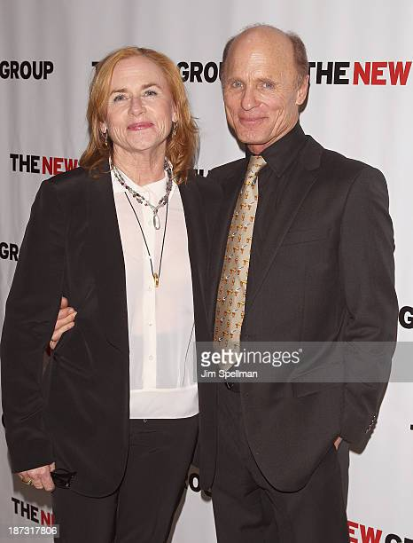 Actors Amy Madigan and Ed Harris attend 'The Jacksonian' Off Broadway opening night after party at KTCHN Restaurant on November 7 2013 in New York...