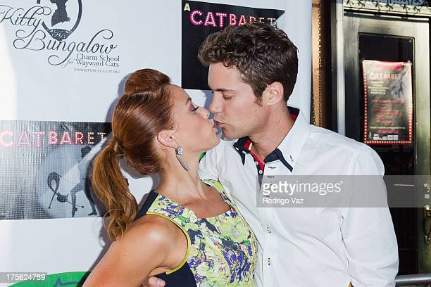 Actors Amy Paffrath and Drew Seeley arrive at 'CATberet' A Musical Review for local cat and kitten rescue center Kitty Bungalow Charm School For...