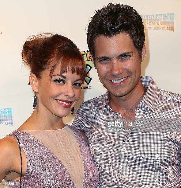 Actors Amy Paffrath and Drew Seeley attend the Los Angeles premiere of 'Chocolate Milk' at Sunday's Best Boutique on June 18 2013 in Los Angeles...