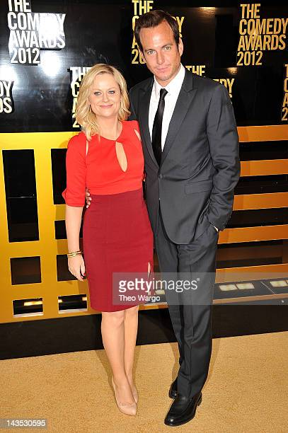 Actors Amy Poehler and Will Arnett attend The Comedy Awards 2012 at Hammerstein Ballroom on April 28 2012 in New York City