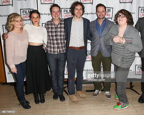 Actors Amy Poehler Jenny Slate Jon Daly director Jonathan Krisel actor Nick Kroll and actor Andy Milonakis attend the Film Indepenent screening and...