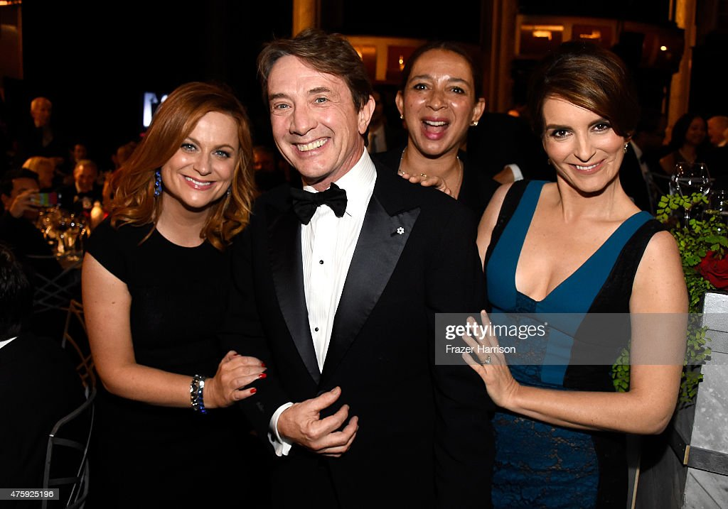 Actors Amy Poehler Martin Short Maya Rudolph and Tina Fey attend the 43rd AFI Life Achievement Award Gala honoring Steve Martin at Dolby Theatre on...