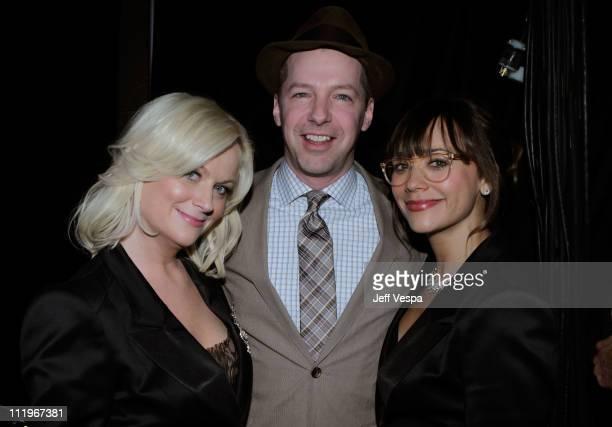 Actors Amy Poehler Sean Hayes and Rashida Jones attend the 22nd Annual GLAAD Media Awards presented by ROKK Vodka at Los Angeles' Westin Bonaventure...