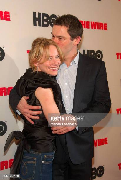 Actors Amy Ryan and Dominic West arrive to HBO's New York premiere of 'The Wire' at Chelsea West Cinema in New York City on January 4 2008
