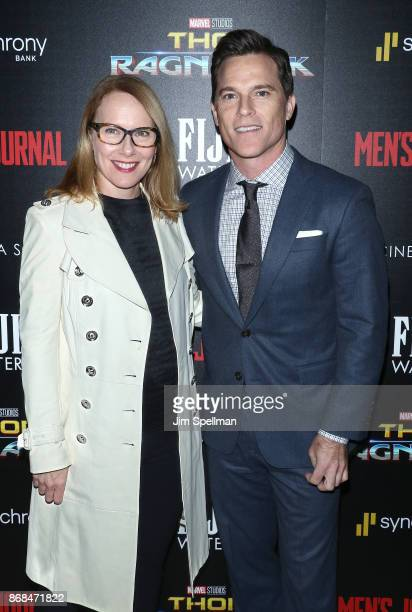Actors Amy Ryan and Michael Doyle attend the screening of Marvel Studios' 'Thor Ragnarok' hosted by The Cinema Society with FIJI Water Men's Journal...