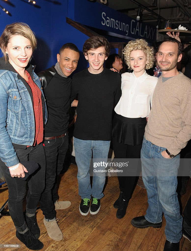 Actors Amy Seimetz, Tequan Richmond, Alex Shaffer, Julia Garner and Verge founder and creative director Jeff Vespa attends the Samsung Gallery Launch Party To Celebrate The Verge List - 2013 on January 19, 2013 in Park City, Utah.