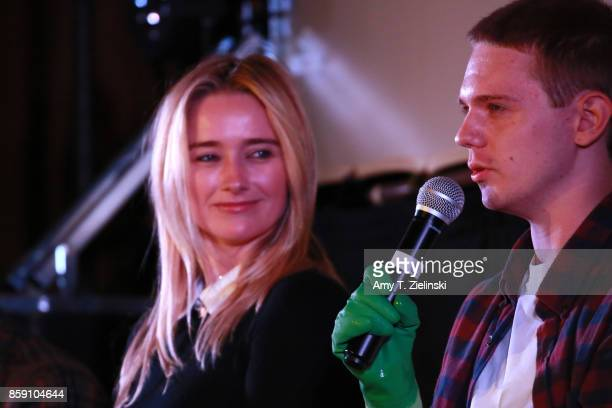 Actors Amy Shiels and Jake Wardle Michael Horse and Sean Bolger answer questions on stage during the Twin Peaks UK Festival 2017 at Hornsey Town Hall...